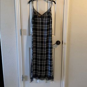 NWOT Zara soft with lace detail dress in S